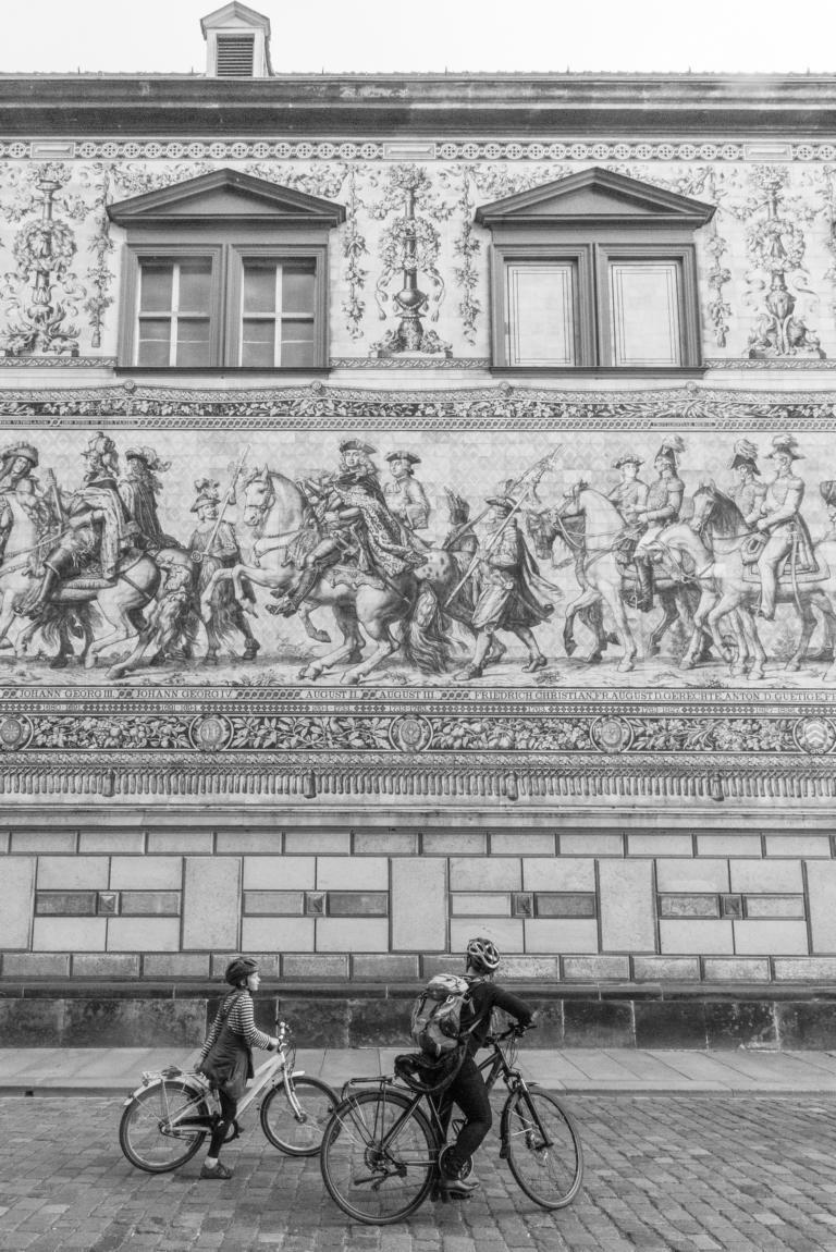 Fürstenzug mit dem Rad Wochenendausflug, Trip, Dresden | unephotodeceline